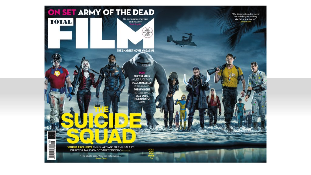 Portada para puestos de revistas de Total Film (mayo de 2021). Imagen: James Gunn Twitter (@JamesGunn).