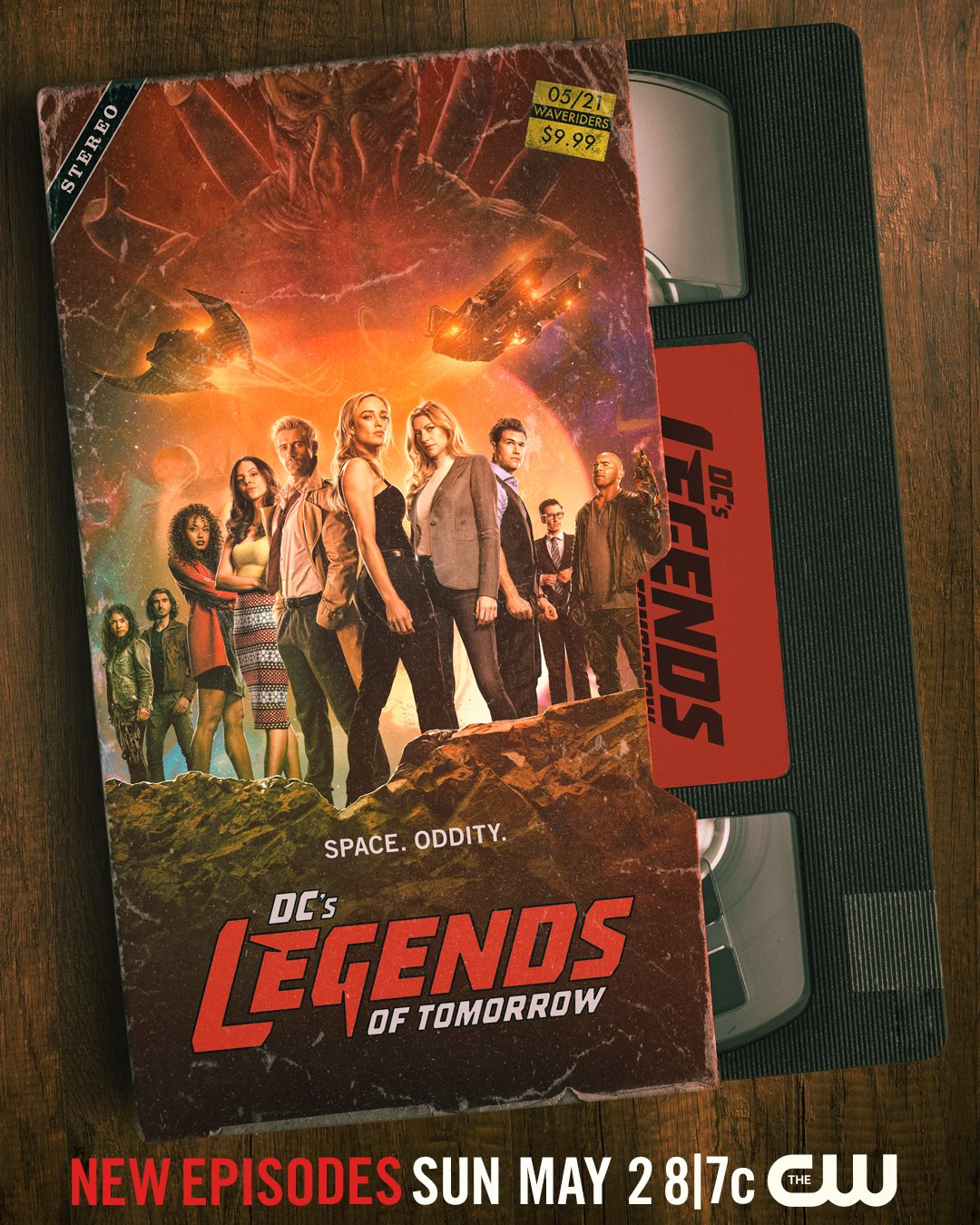 Póster de la temporada 6 de DC's Legends of Tomorrow. Imagen: DC's Legends of Tomorrow Twitter (@TheCW_Legends).