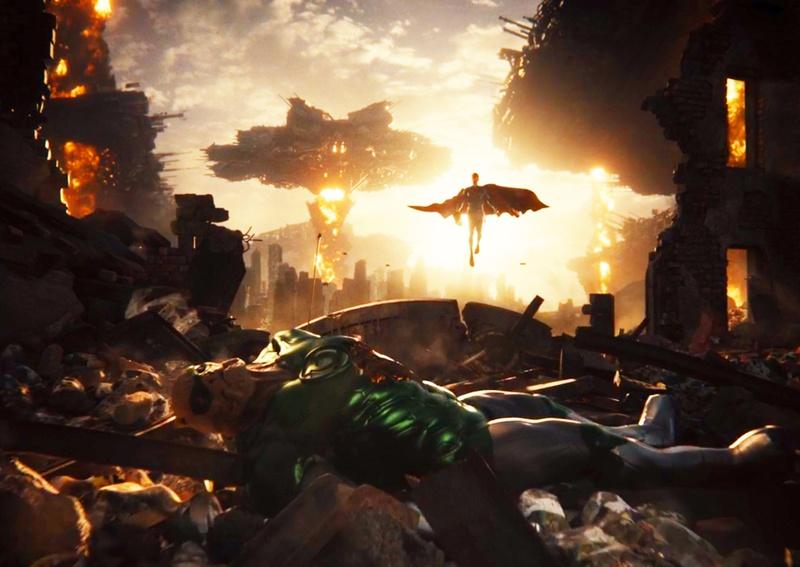 """Kilowog durante la visión de la """"Knightmare"""" de Zack Snyder's Justice League (2021). Imagen: thedirect.com"""