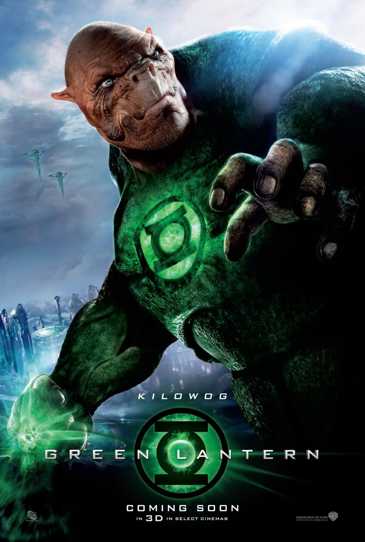 Kilowog (voz de Michael Clarke Duncan) en un póster de Green Lantern (2011). Imagen: impawards.com