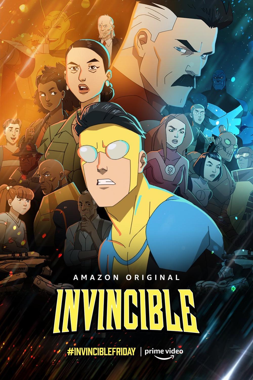 Póster promocional de la temporada 1 de Invincible en Amazon Prime Video. Imagen: impawards.com