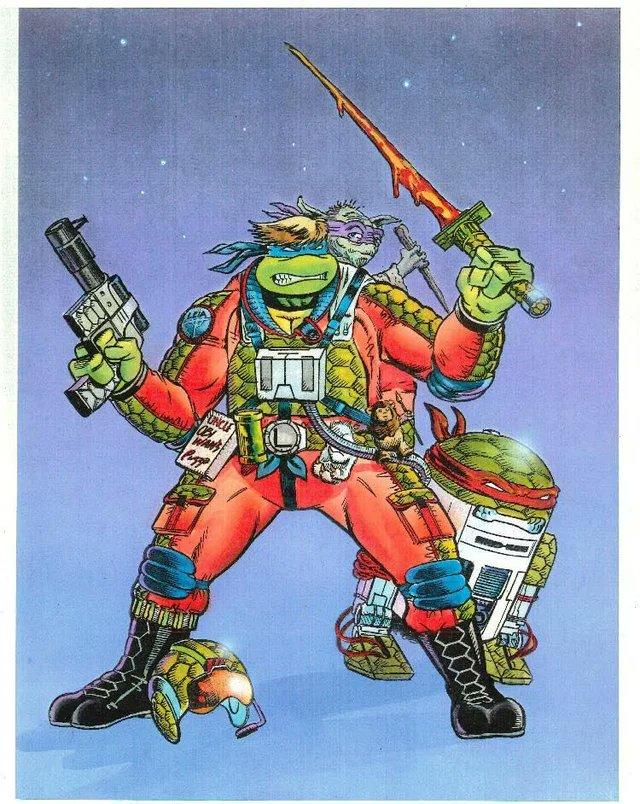 Leonardo Sywalker en arte conceptual del crossover Star Wars/Teenage Mutant Ninja Turtles por Michael Dooney. Imagen: Alan Johnson Twitter (@TheAlanJohnson).