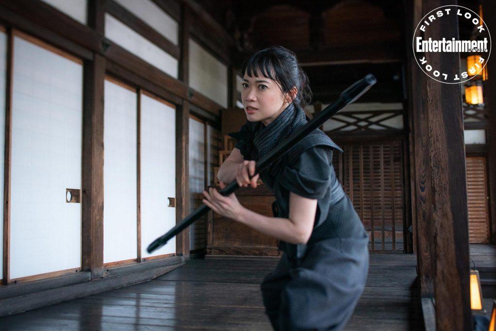 Akiko (Haruka Abe) en Snake Eyes: G.I. Joe Origins (2021). Imagen: Niko Tavernese/Paramount Pictures/Entertainment Weekly