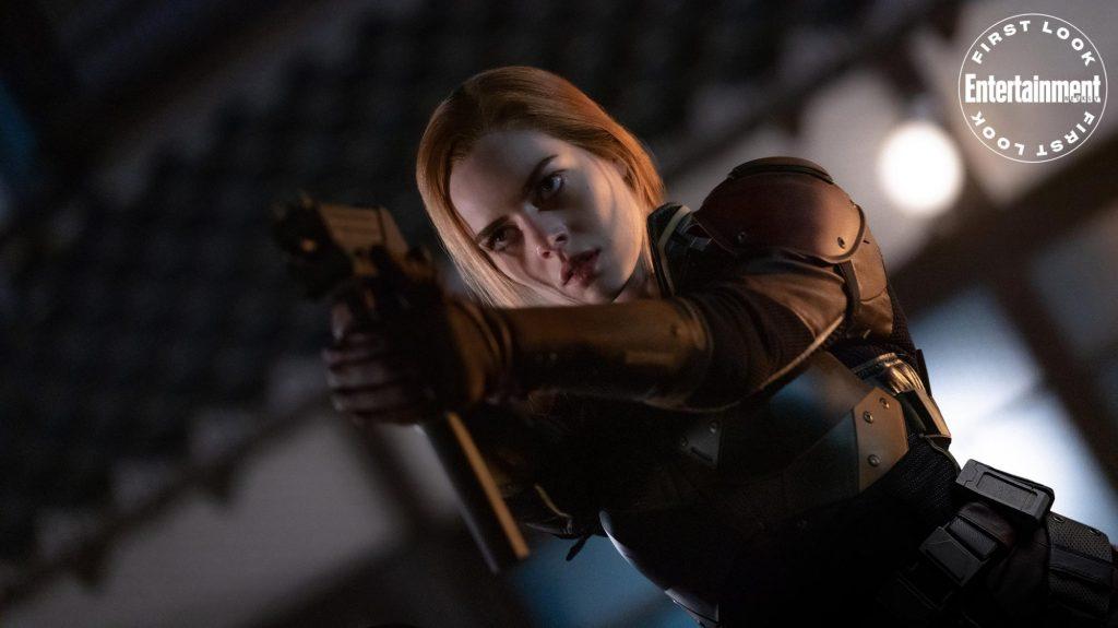 Scarlett (Samara Weaving) en Snake Eyes: G.I. Joe Origins (2021). Imagen: Niko Tavernese/Paramount Pictures/Entertainment Weekly