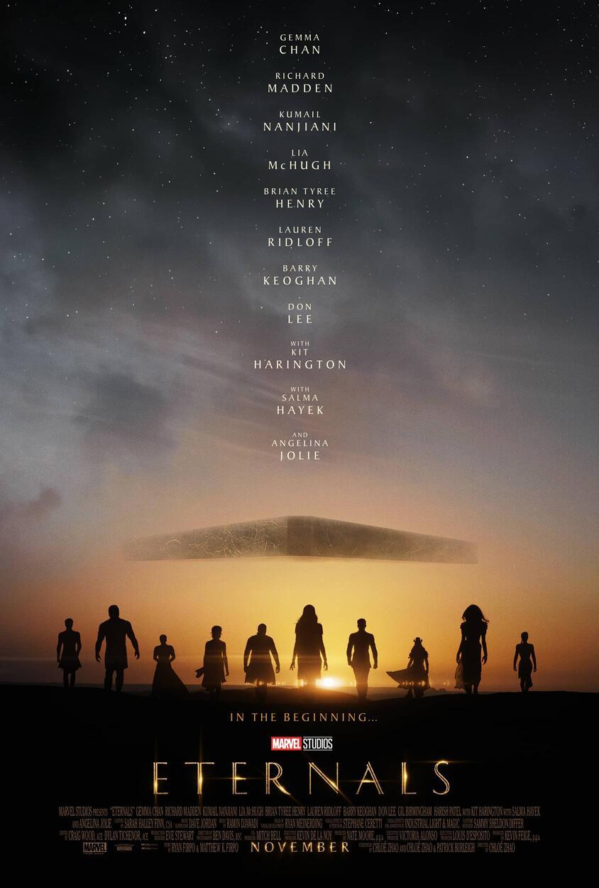 Póster promocional de Eternals (2021). Imagen: Marvel.com