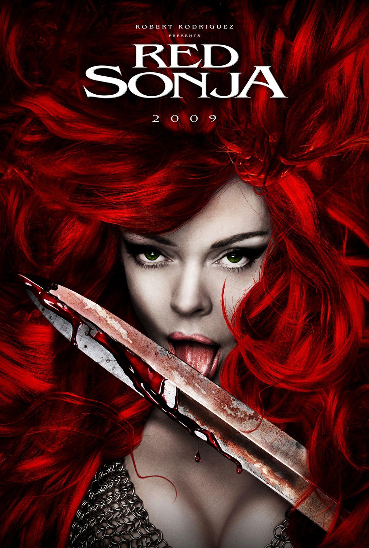 Rose McGowan en un póster de la película no realizada de Red Sonja. Imagen: impawards.com