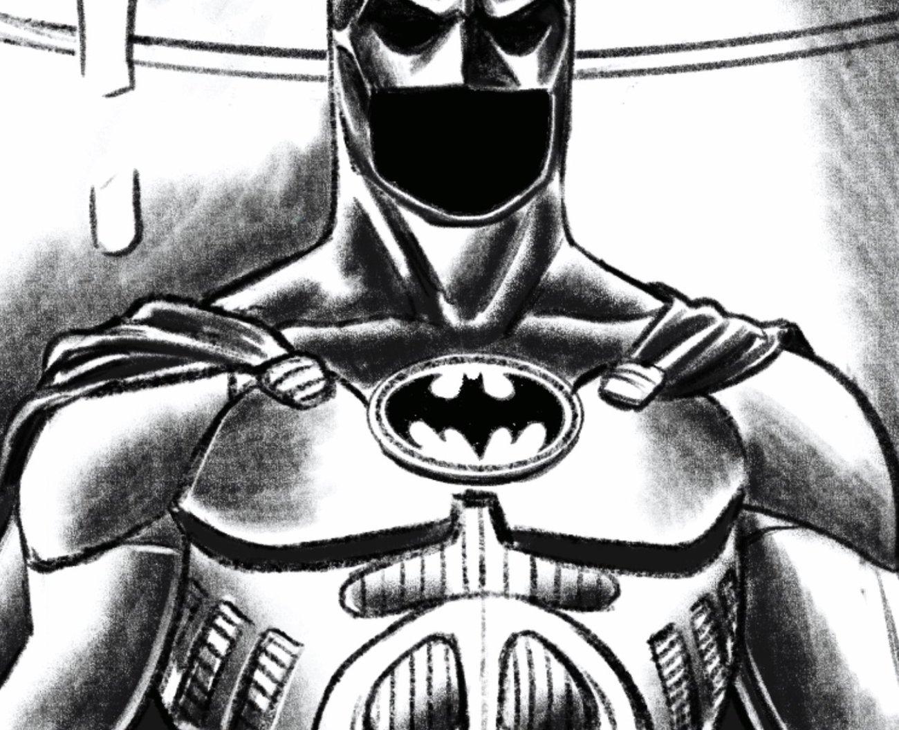 El Batitraje en Batman '89 (2021). Arte por Joe Quiñones. Imagen: Joe Quiñones Twitter (@Joe_Quinones).