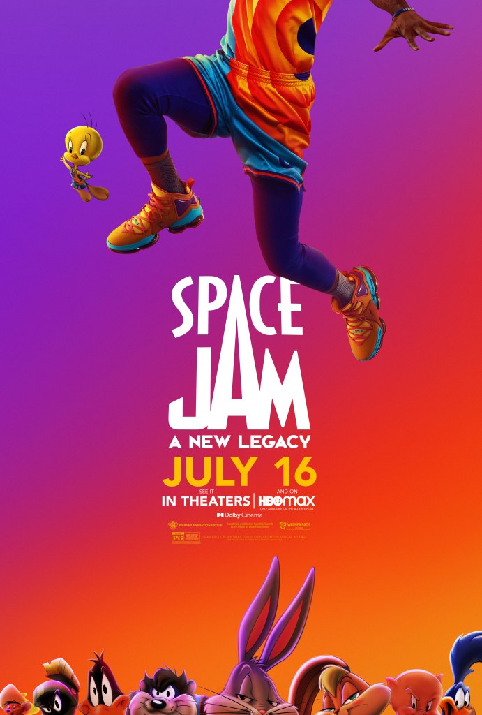 Póster promocional de Space Jam: A New Legacy (2021). Imagen: Space Jam: A New Legacy Twitter (@spacejammovie).