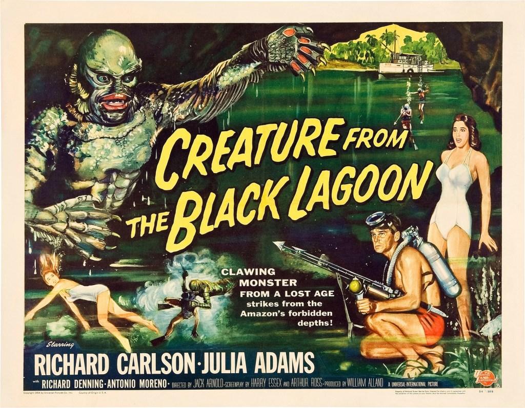 Póster de Creature from the Black Lagoon (1954). Imagen: impawards.com