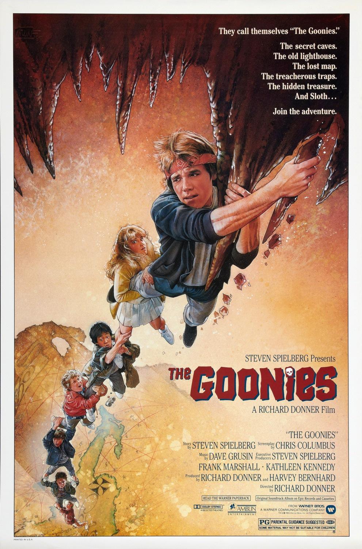 Póster de The Goonies (1985) por Drew Struzan. Imagen: Drew Struzan (@DrewStruzan).