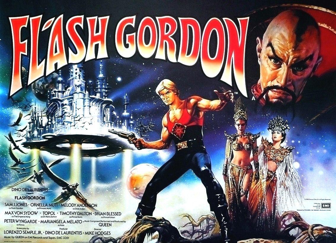 Póster promocional de Flash Gordon (1980). Imagen: impawards.com