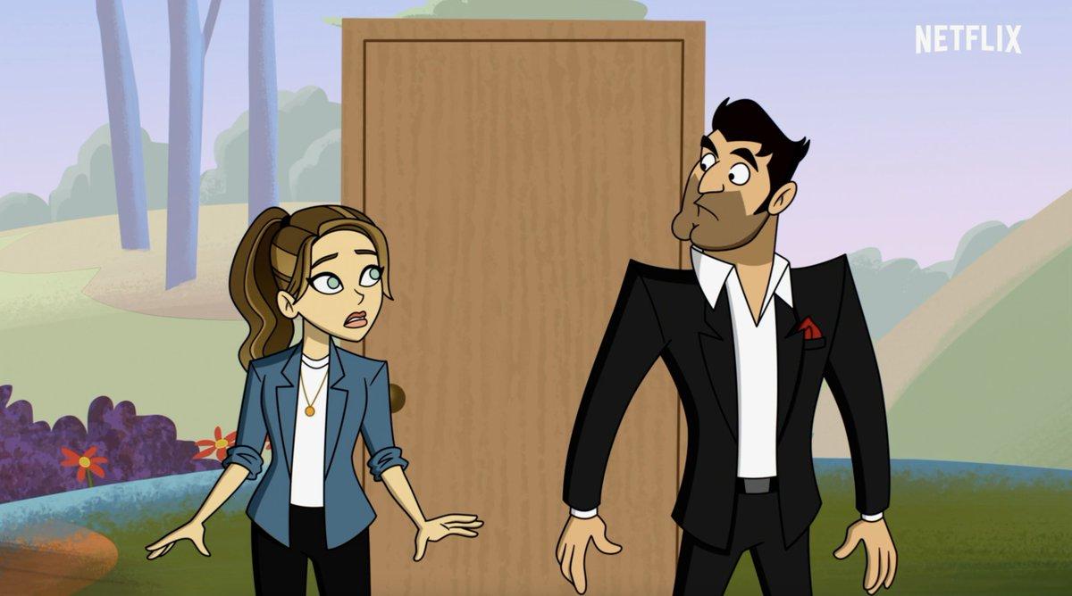 La Detective Chloe Decker (Lauren German) y Lucifer Morningstar (Tom Ellis) en la temporada 6 de Lucifer. Imagen: Netflix Geeked Twitter (@NetflixGeeked).