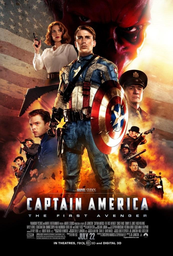 Póster de Captain America: The First Avenger (2011). Imagen: impawards.com