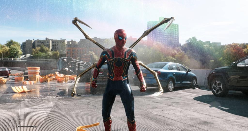 Spider-Man/Peter Parker (Tom Holland) en Spider-Man: No Way Home (2021). Imagen: Sony Pictures