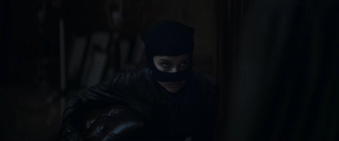Catwoman/Selina Kyle (Zoë Kravitz) en el primer avance de The Batman (2022). Imagen: listal.com
