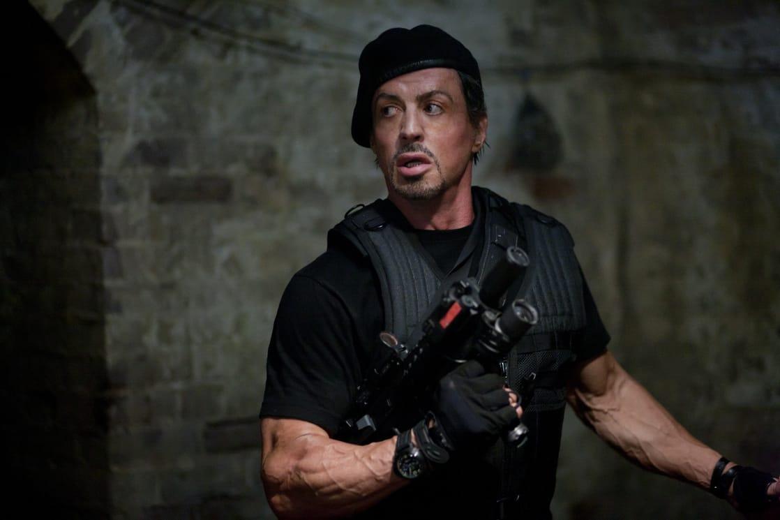 Barney Ross (Sylvester Stallone) en The Expendables (2010). Imagen: listal.com