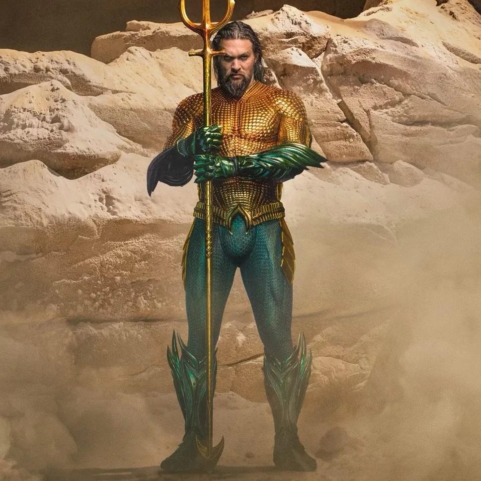 El traje de Aquaman (Jason Momoa) en Aquaman (2018). Imagen: Jason Momoa Instagram (@prideofgipsies).