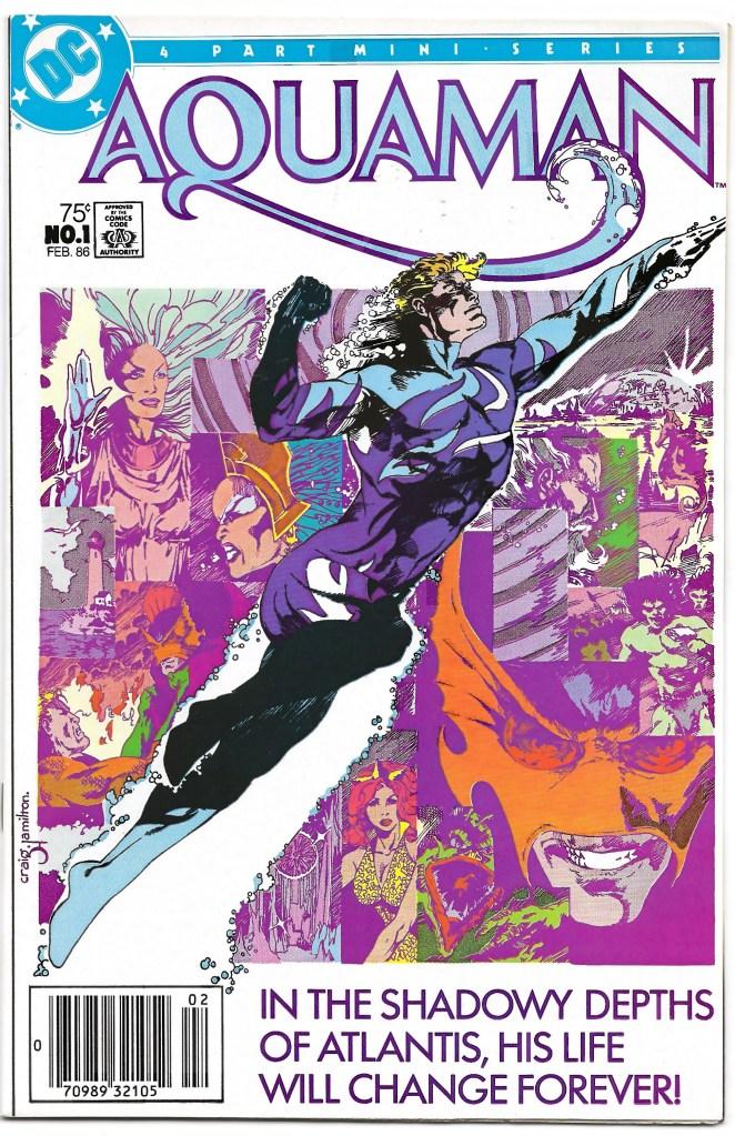 Portada de Aquaman #1 (febrero de 1986). Arte por Craig Hamilton. Imagen: hipcomic.com