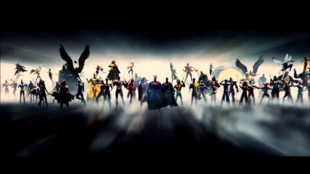 La introducción con los personajes de DC Comics. Imagen: RealDCEUleaks Reddit
