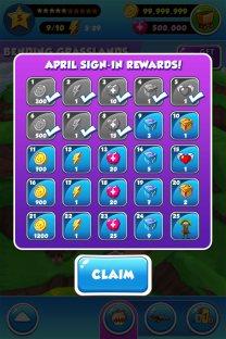 Monthly login rewards design