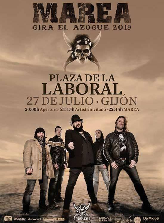 concierto de Marea en Gijón 2019
