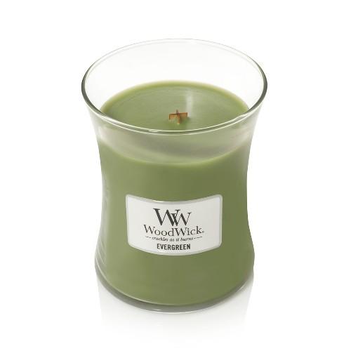 WoodWick Geurkaars Evergreen Medium