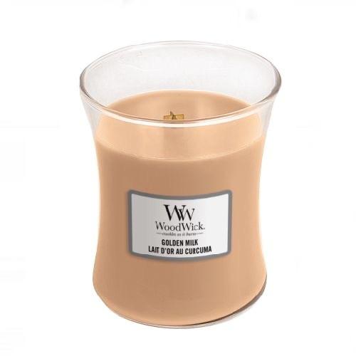 WoodWick Geurkaars Golden Milk Medium