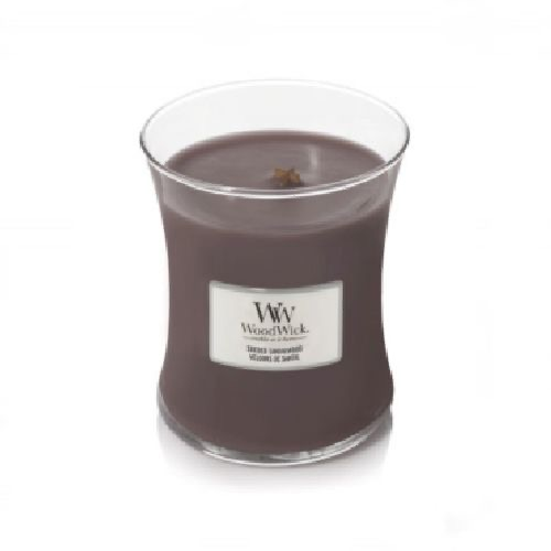 WoodWick Geurkaars Suede & Sandalwood Medium