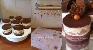 Minitortulete cu ciocolata, pralina de alune si pere5