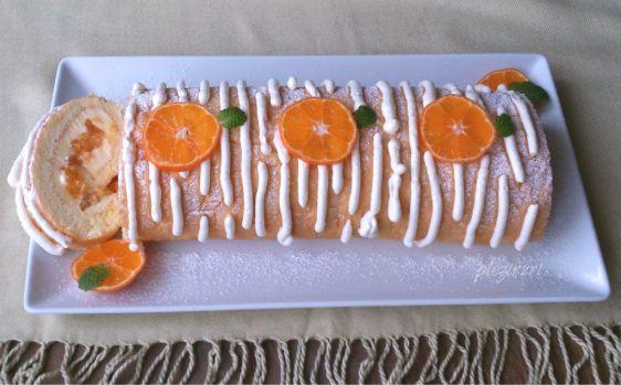 Rulada cu mascarpone si mandarine