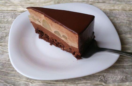 Tort cu ciocolata pere pralina de alune