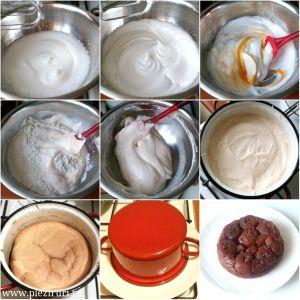 Tort cu mere, caramel si crema de vanilie