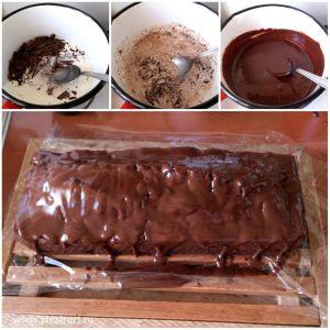 Chec cu ciocolata pere si migdale