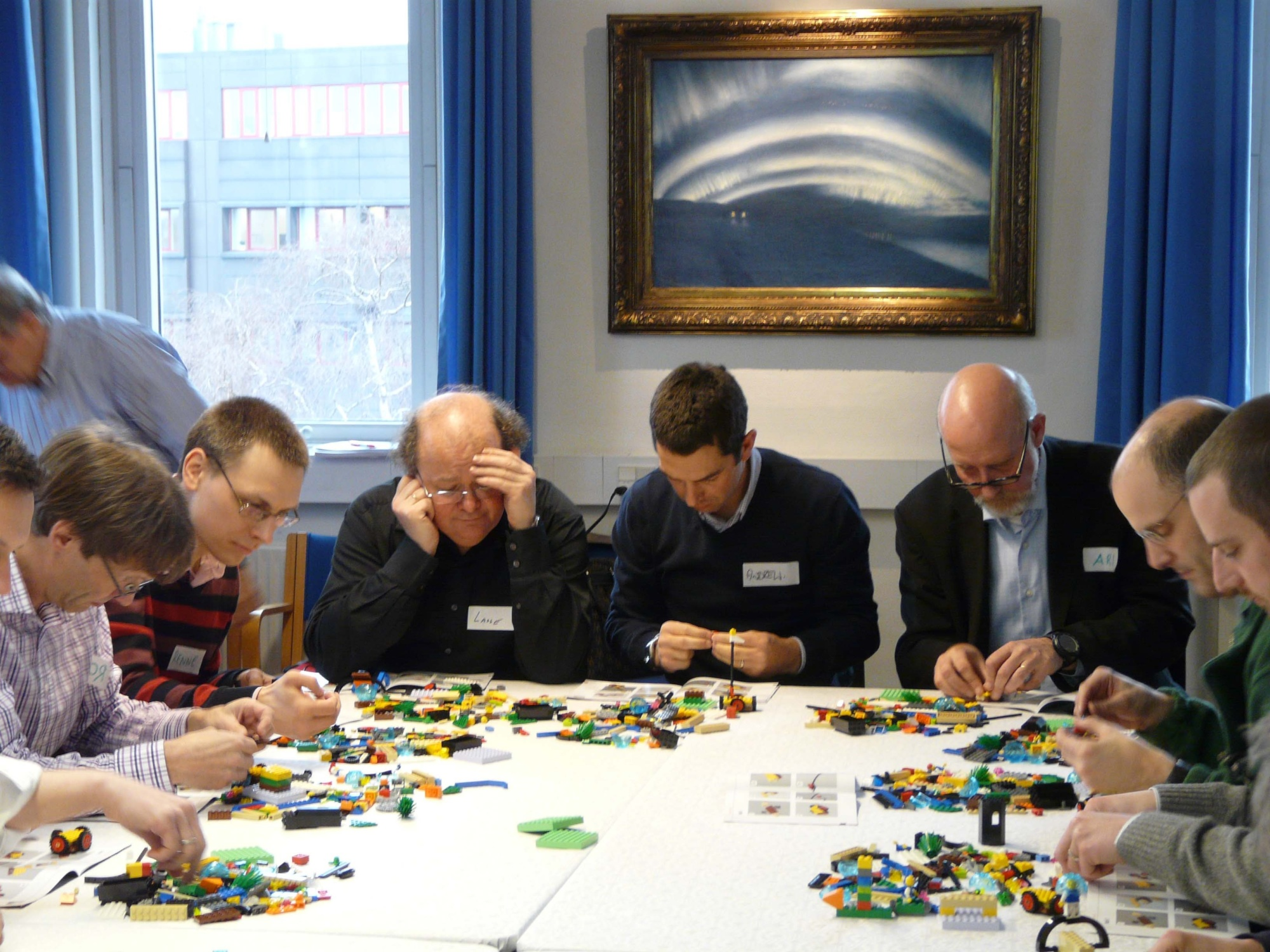 LEGO® SERIOUS PLAY® modeling building begins