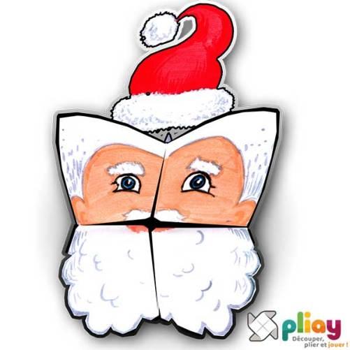 Marionnette Père Noël Cocotte en papier à imprimer - Les loisirs créatifs Pliay