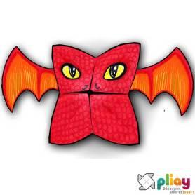 Marionnette Dragon Cocotte en papier à imprimer - Les loisirs créatifs Pliay