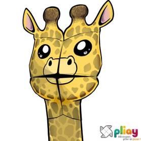 Marionnette Giraffe Cocotte en papier à imprimer - Les loisirs créatifs Pliay