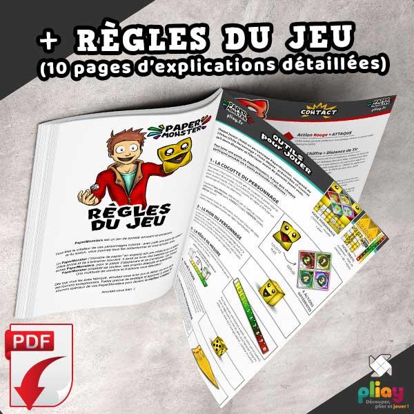 Règles du jeu de PaperMonsters - le jeu de bataille à plier