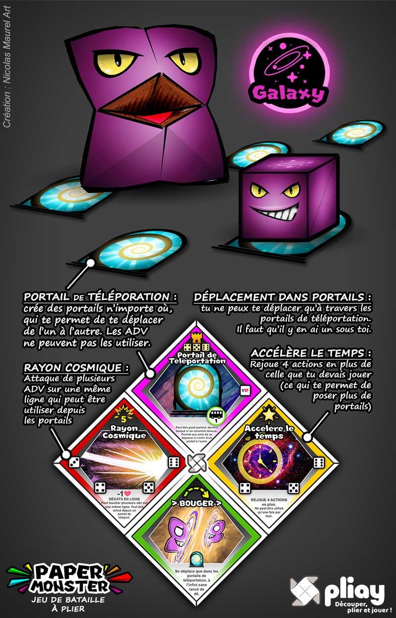 Présentation du PaperMonster Violet Galaxy