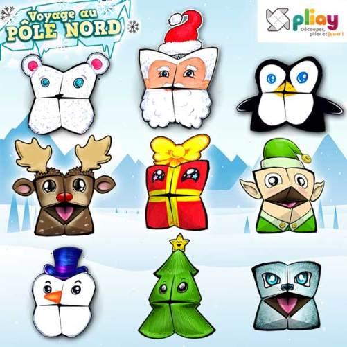 Marionnettes en papier spécial Noël