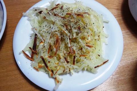 ジャガイモの細切り焼き