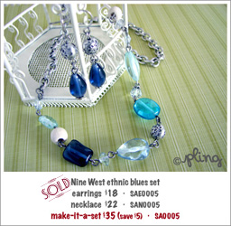 SA0005 - Nine West ethnic blues set