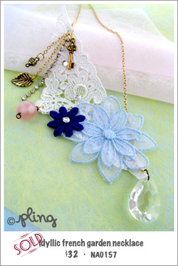 NA0157 - idyllic french garden necklace
