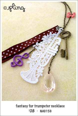 NA0159 - fantasy for trumpeter necklace