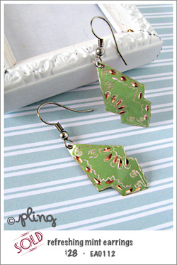 EA0112 - refreshing mint earrings