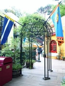 ghibli museum cafe gazebo