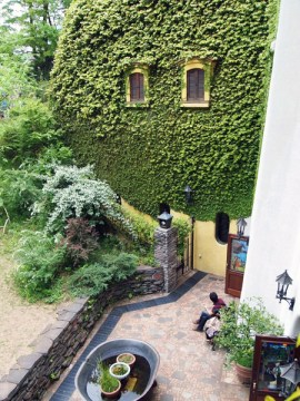ghibli museum garden patio