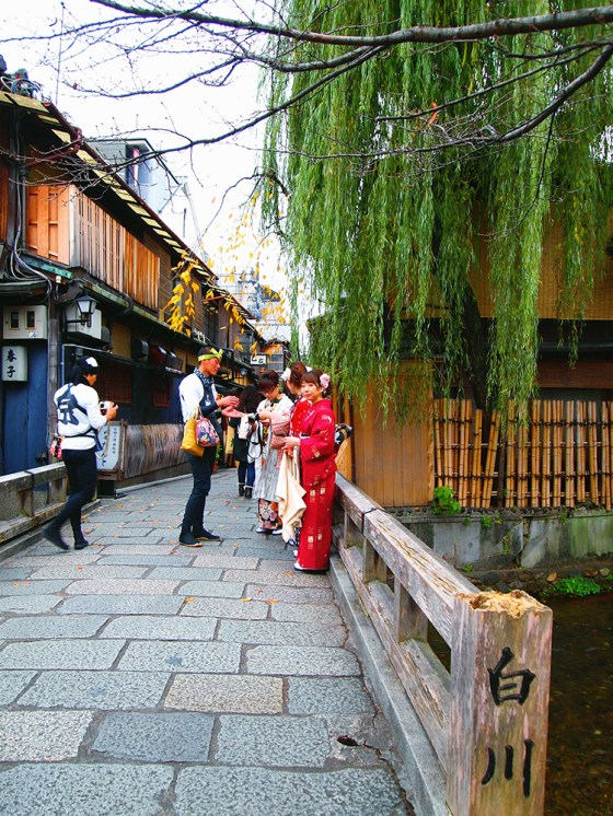 Shirakawa 白川 in Gion Kyoto - Living quarters of geishas