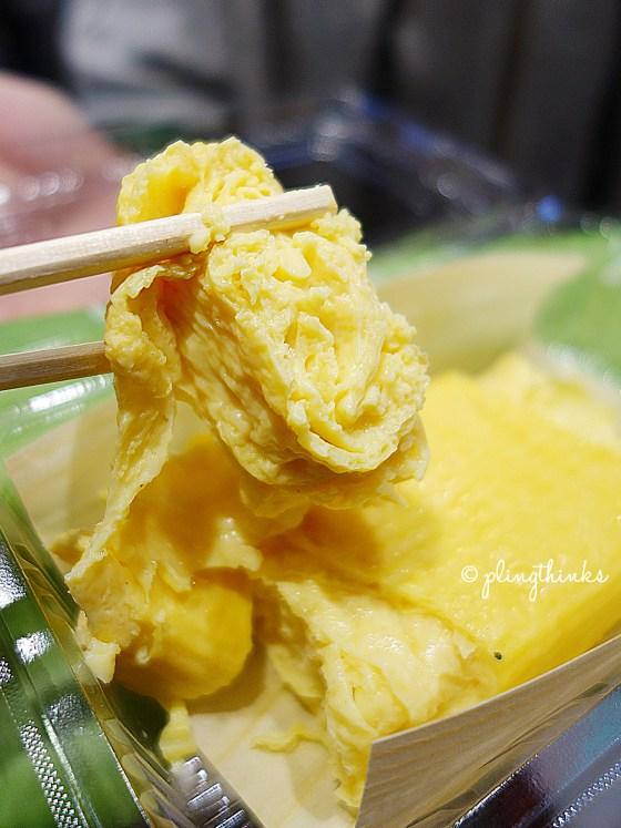 Egg Rolls Tamagoyaki Dashimaki Tamago - Nishiki Market Kyoto