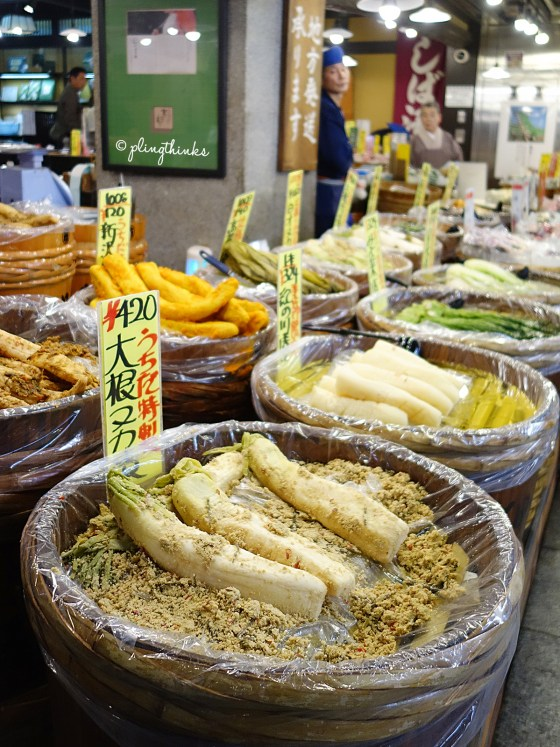 Japanese Pickles Pickled Vegetables - Nishiki Market Kyoto